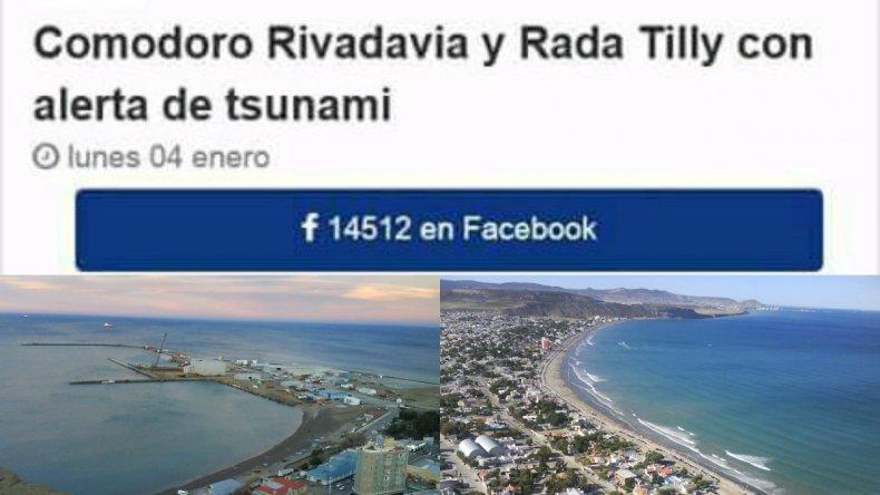 ¿Tsunami en Comodoro? La broma que se viralizó en redes sociales