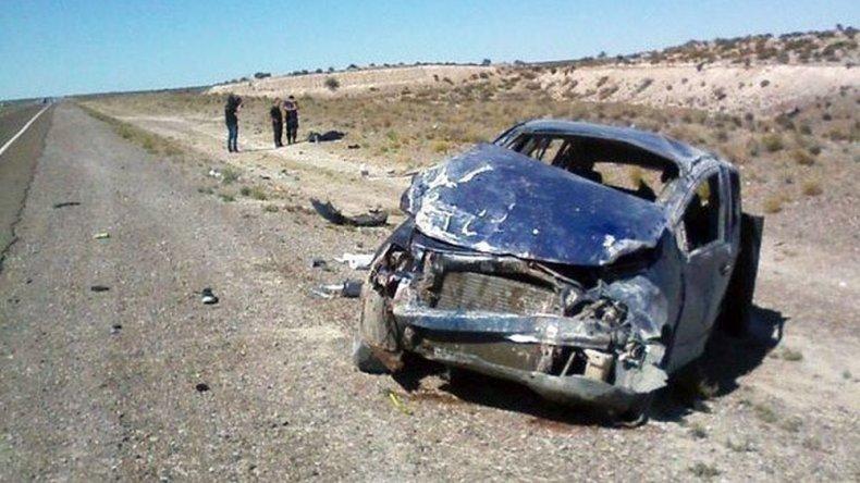 Una adolescente murió en un vuelco camino a Comodoro