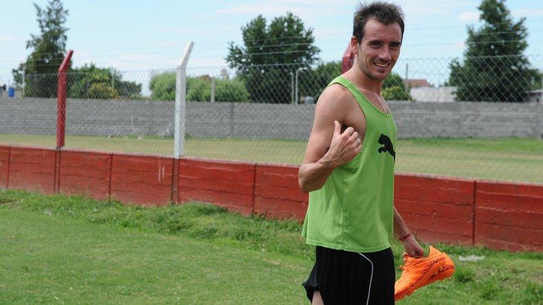 El mediocampista Federico Mancuello ayer durante el entrenamiento de Independiente de Avellaneda.