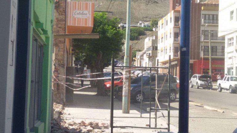 Obras sin seguridad en pleno Centro