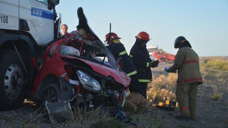 Dos jóvenes y una beba fueron las víctimas fatales del triple choque