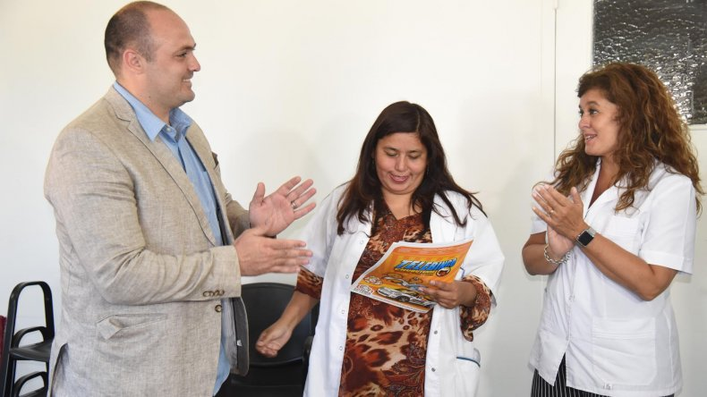Lotería del Chubut hizo un aporte al Hospital Regional de Comodoro Rivadavia.