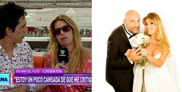 Florencia Peña habló de la floja temporada en Mar del Plata