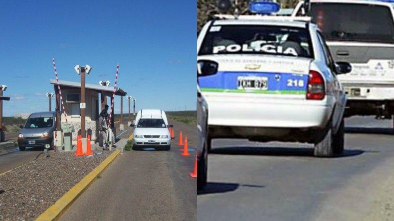 Los perseguía la policía y les tiraron corderos faenados