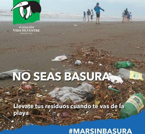 No seas basura: una campaña que apunta a cuidar las playas