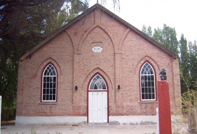 La Capilla Bethel es la más grande y mejor cuidada de las 15 que se encuentran en el valle.