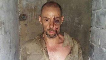 Martín Lanatta, luego de ser recapturado por las fuerzas policiales de Santa Fe.