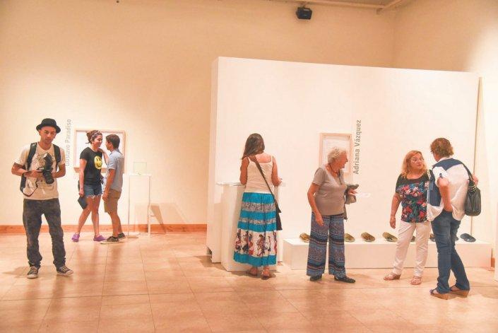 La muestra Hábito de Artista se puede visitar hasta el 30 de enero en el Centro Cultural de Rada Tilly.