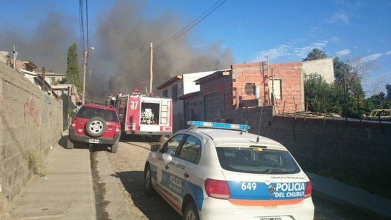 Cuatro dotaciones de Bomberos acudieron a un incendio