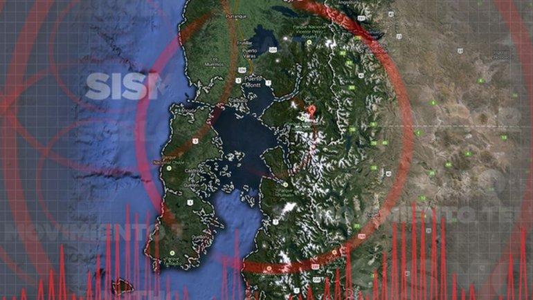 Un sismo de 4,9 en la escala de Richter sacudió tres regiones del sur de Chile