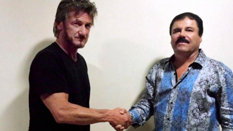 El encuentro entre Penn y Guzmán genera polémica en México.