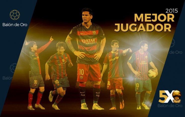 ¡Messi ganó su quinto Balón de Oro!