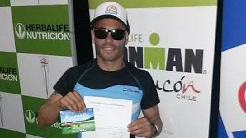 Martín Bravo brilló en el Ironman de Pucón al terminar cuarto y además clasificar para el Mundial que se realizará en setiembre en Australia.