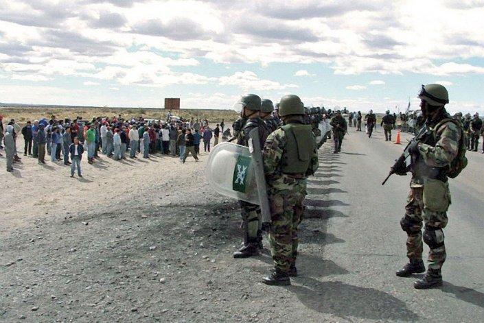 Más de 250 gendarmes llegaron a Caleta Olivia para liberar ruta 3