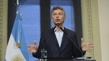 Macri, en conferencia de prensa en Casa de Gobierno.