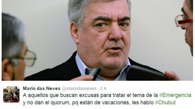 Das Neves apuntó duro contra diputados del FPV