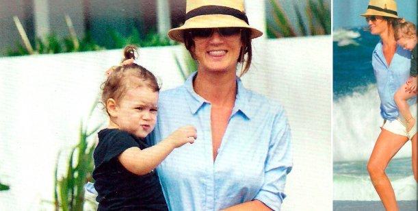 Paula Chaves y su hija Olivia, solas en Punta del Este