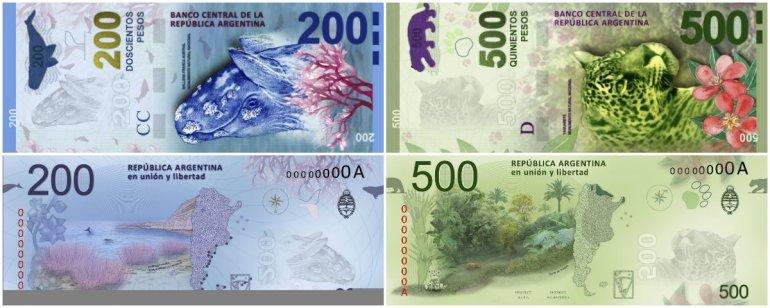 Así serán los nuevos billetes a partir de mitad de año