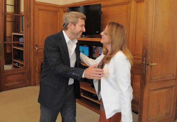 Alicia Kirchner y Frigerio analizaron obras para Santa Cruz