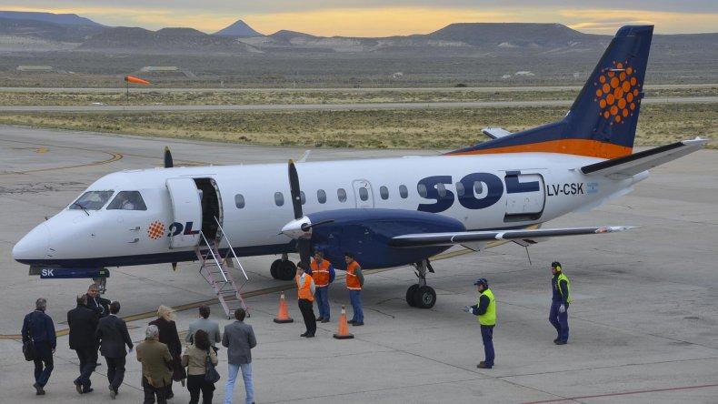 Sol deja de operar en la región a partir de una decisión de la nueva titular de Aerolíneas Argentinas