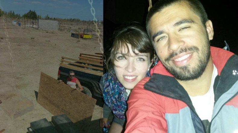 Una pareja construye un centro de contención en Km 17