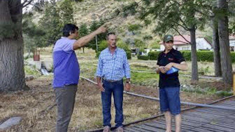 Los trabajos de reacondicionamiento ya comenzaron en la estación de piscicultura de arroyo Baguilt.