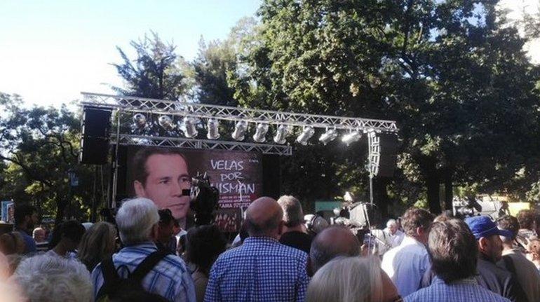 Homenaje y marcha a un año de la muerte de Nisman