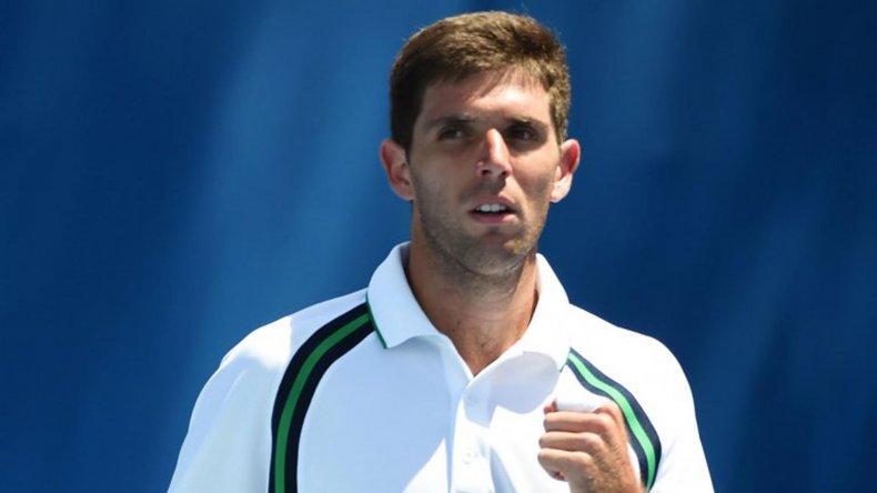 El azuleño Federico Delbonis debutó con una victoria en Australia.