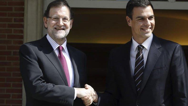 El encuentro entre Rajoy y Sánchez.