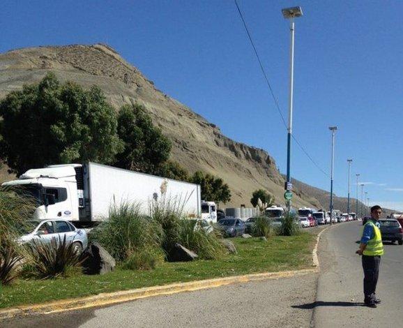 Desocupados cortaron la ruta en acceso al centro