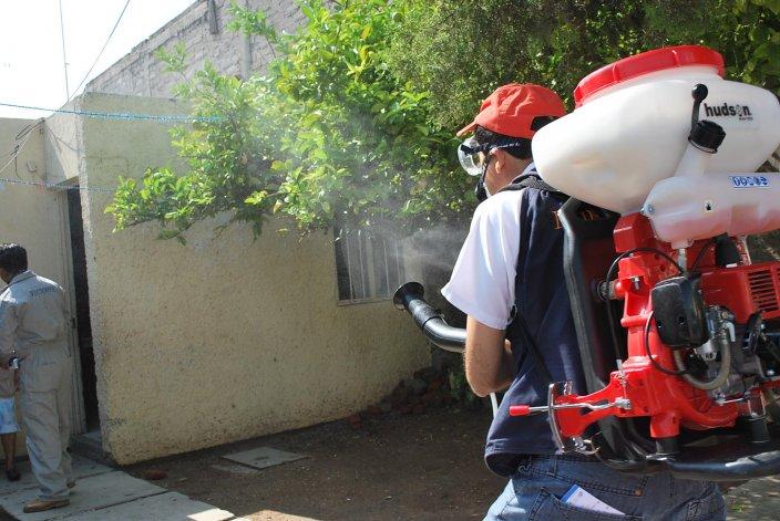 Equipos fumigan los lugares donde se encuentran los mosquitos vectores de la enfermedad.