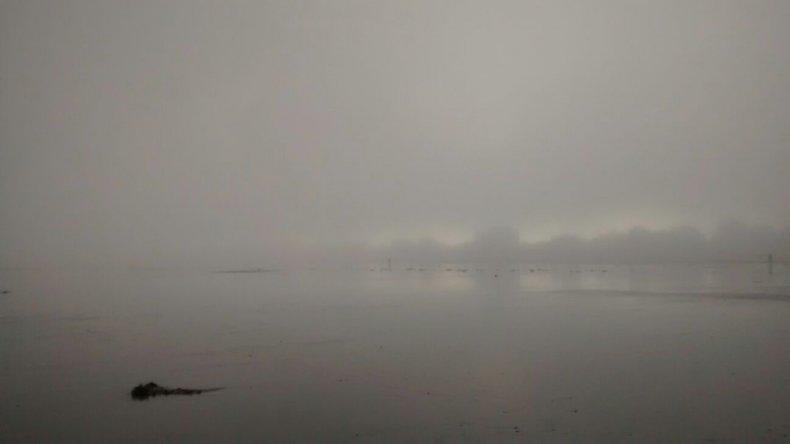 Los bancos de niebla cubren Comodoro y Rada Tilly
