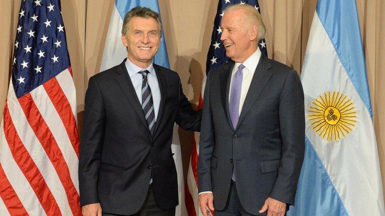 El presidente Mauricio Macri se reunió ayer en Davos con el vicepresidente de Estados Unidos
