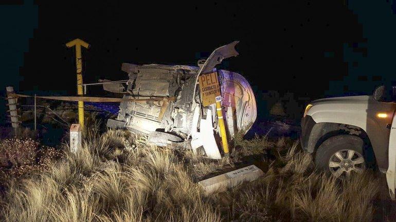 La posición en la que quedó el vehículo en el que se desplazaba Sergio Bohe.