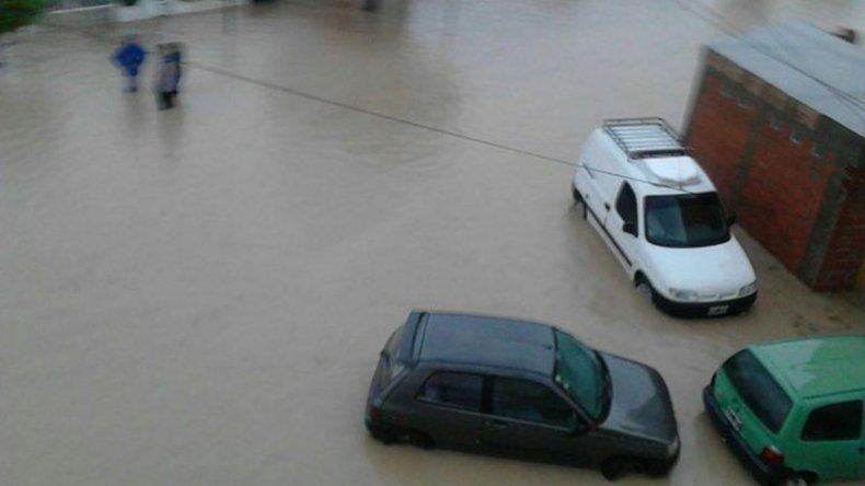 Puerto Madryn bajo agua: las fotos de la intensa tormenta que inundó a la ciudad