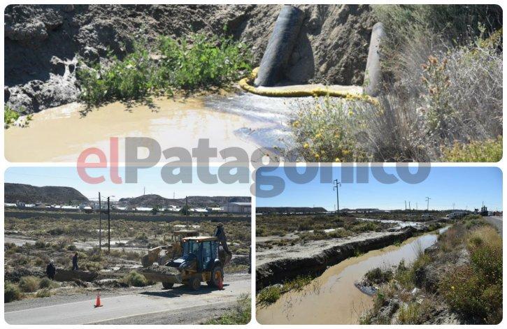 El derrame produjo una pileta de petróleo en Km 9
