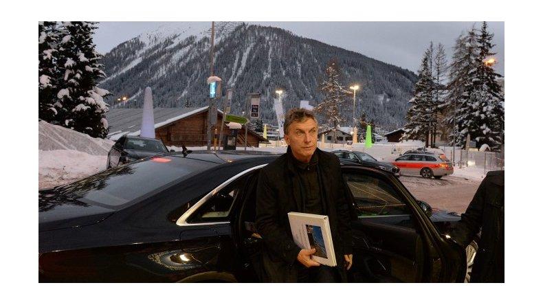 Macri llegó esta mañana desde Davos