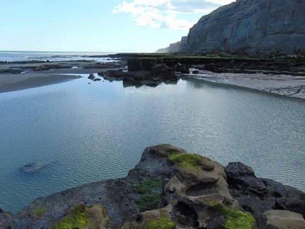 El balneario La Lobería: paz y playa