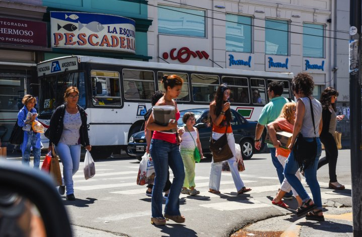 Centro de Comodoro Rivadavia. Foto: Mauricio Macretti / El Patagónico.