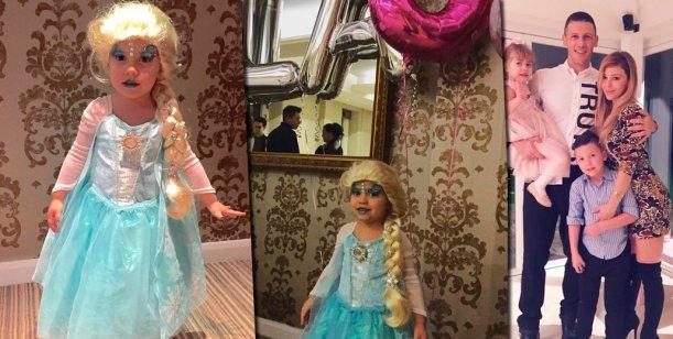 El cumpleaños de princesas de la hija de Eva Anderson y Martín Demichelis