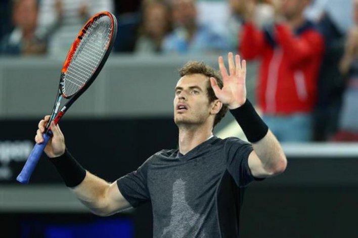 Andy Murray festeja un nuevo triunfo ayer en el Abierto de Australia.