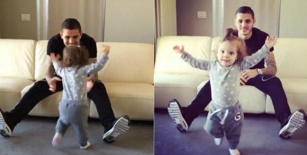 La hija de Wanda Nara y Mauro Icardi comenzó a caminar