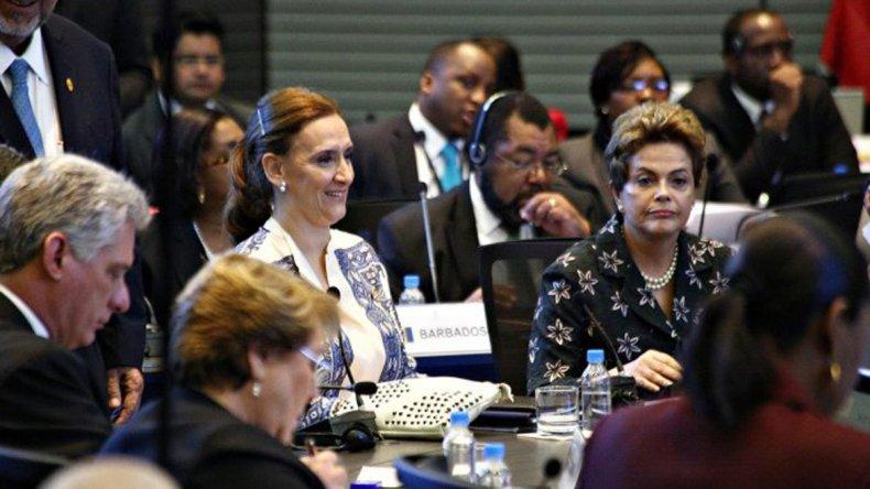Gabriela Michetti participa en la cumbre de la CELAC en representación del presidente Mauricio Macri.