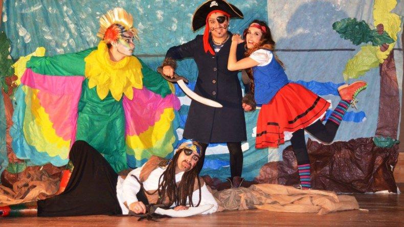 Los piratas llegan a Rada Tilly para buscar el tesoro más preciado de la humanidad