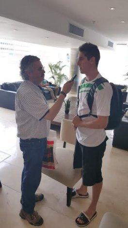 Nicolás De los Santos con Ricardo Scazzino