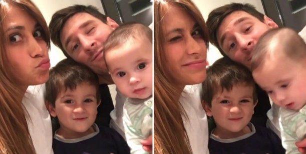 El divertido show de caras y gestos de los Messi en un video casero