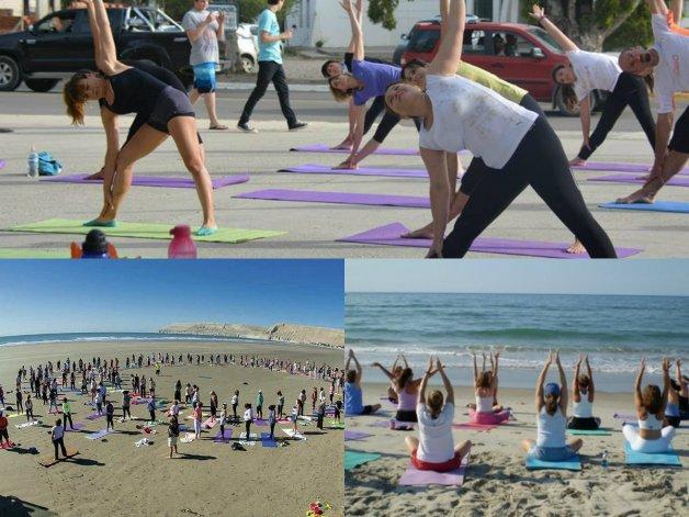 Las clases de yoga al aire libre continúan en Rada Tilly