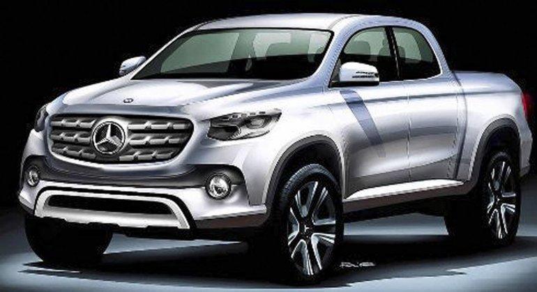 Cómo sería la futura pick  up de Mercedes-Benz