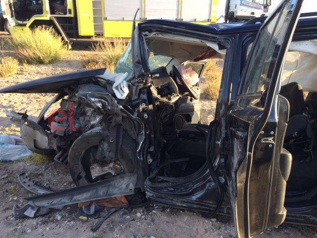 Una mujer grave y otros tres heridos en un choque frontal cerca de Garayalde