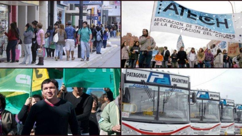 Gremios de Chubut descartan discutir paritarias por debajo del 30 por ciento